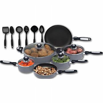 Chef's Secret 16pc Hard Annodized Aluminum Cookware Set