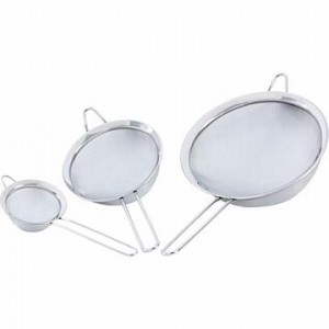Chef's Secret. 3pc Stainless Steel Strainer Set