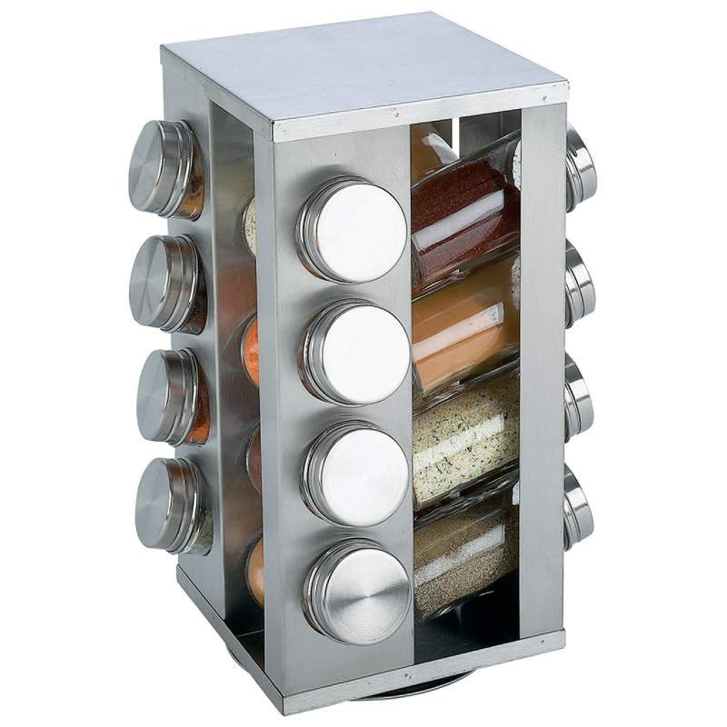 Chef Secret 16 Jar Stainless Steel Rotating Spice Rack