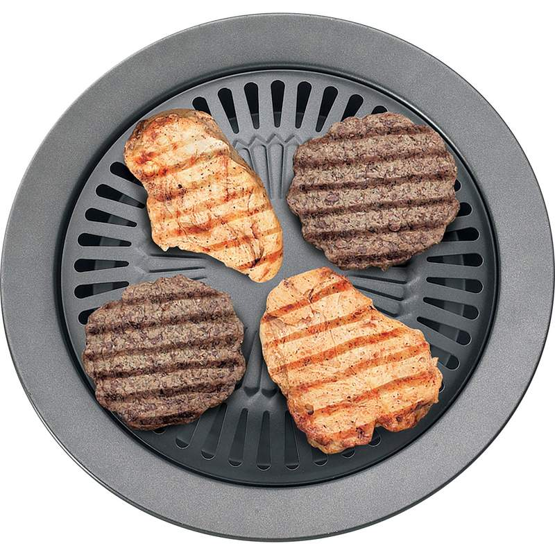 "Chefmaster"" 2-Pack Smokeless Indoor Stovetop Barbeque Grills"