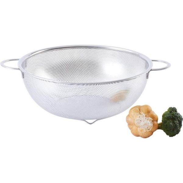 "Chef's Secret® 11"" Perforated Stainless Steel Colander"