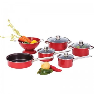 Chef's Secret 10pc Heavy-Gauge Even-Heating Steel Cookware Set
