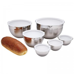 Chef's Secret 12pc Surgical Stainless Steel Mixing Bowl Set