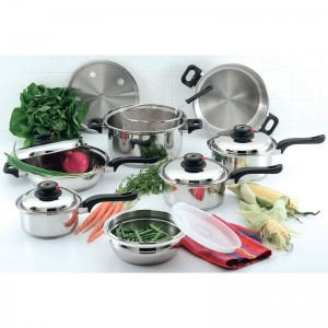 Chef's Secret 15pc 9-Element 304 Stainless Steel Cookware-KT915