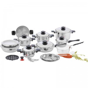 "Chef's Secret 28pc 12-Element T304 Stainless Steel ""Waterless"" Cookware Set"