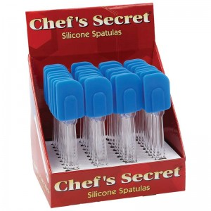 Chef's Secret 36pc Silicone Spatulas in Countertop Display