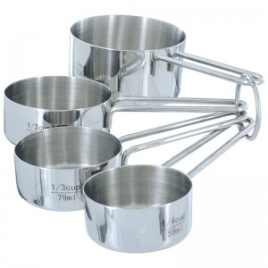 Chef's Secret 4pc T304 Stainless Steel Measuring Cup Set