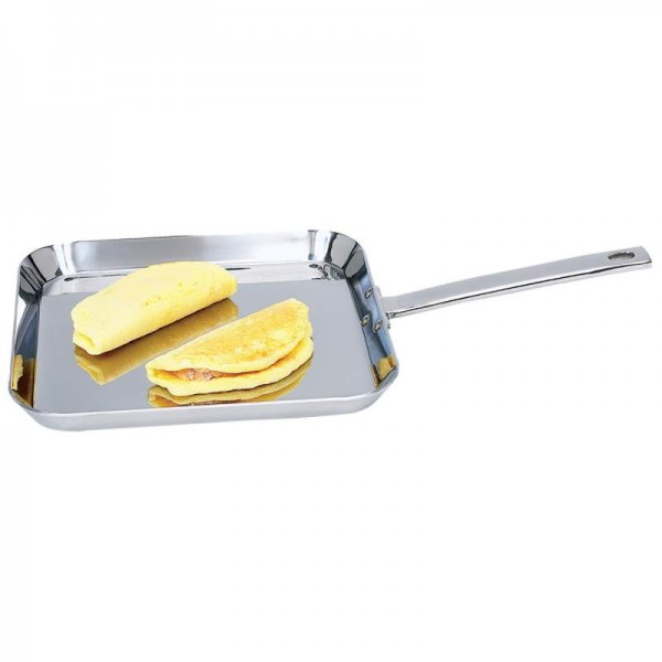 """Chef's Secret by Maxam 11"""" Stainless Steel Square Griddle"""