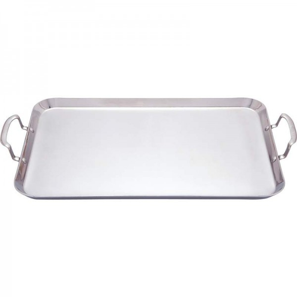 Chef's Secret by Maxam T304 3-Ply Stainless Steel Double Griddle