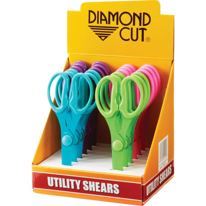 Diamond Cut 12pc Utility Shears in Countertop Display