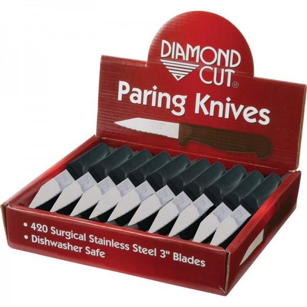 Diamond Cut 60pc Paring Knives in Countertop Display