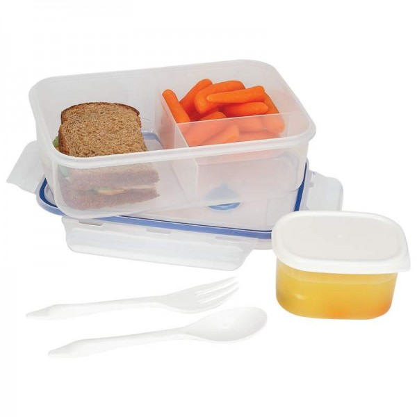 LaCuisine 34oz Locking Divided Lunch Container