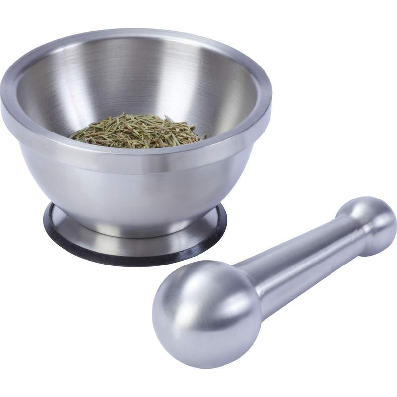 Maxam® Stainless Steel Mortar and Pestle