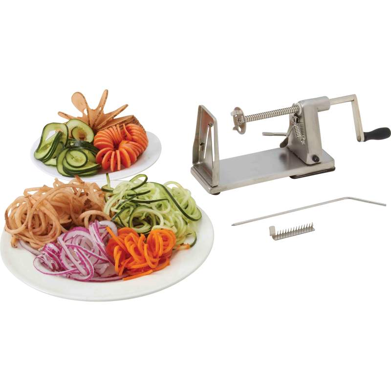 Maxam Stainless Steel Vegetable Spiral Slicer