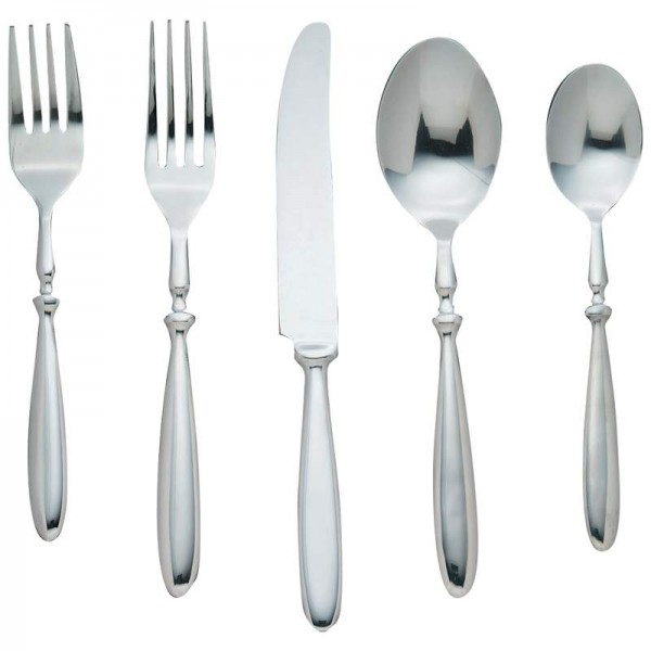 """Nikita """"Bistro"""" 20pc Forged T304 Stainless Steel Flatware Set"""