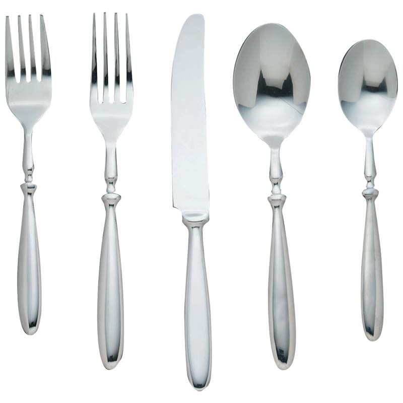 "Nikita ""Bistro"" 20pc Forged T304 Stainless Steel Flatware Set"