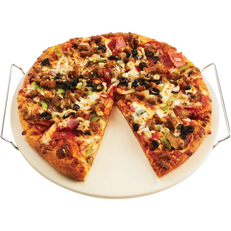 "Precise Heat 13"" Pizza/Baking Stone with Rack"