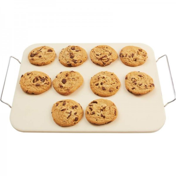 "Precise Heat 15"" x 12"" Baking Stone with Rack"