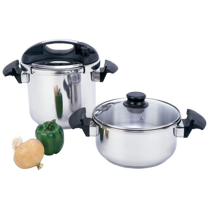 Precise Heat 4pc Stainless Steel Pressure Cooker Set