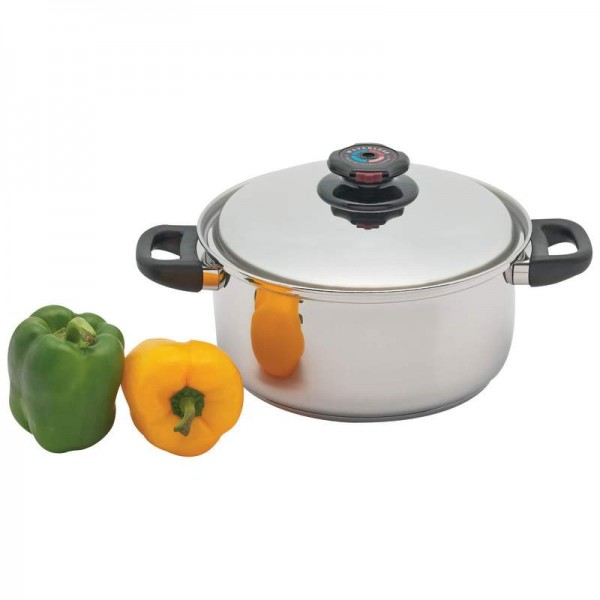 Precise Heat 5.5qt 12-Element T304 Stainless Steel Stockpot with Vented Lid