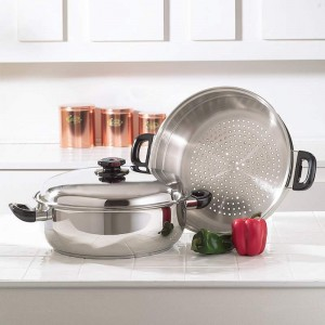Precise Heat T304 Stainless Steel Oversized Skillet