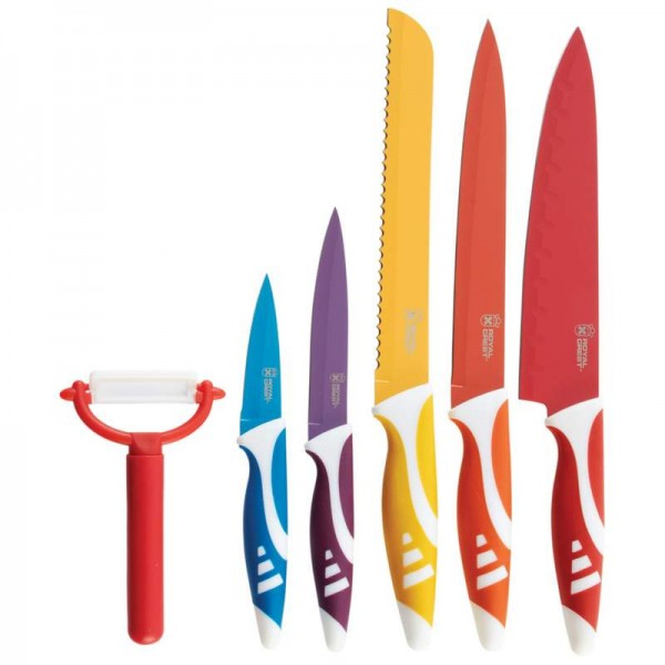 Royal Crest 6pc Non-Stick Coated Cutlery Set