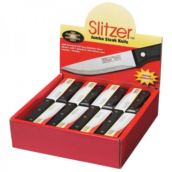 Slitzer 48pc Jumbo Steak Knives in Countertop Display