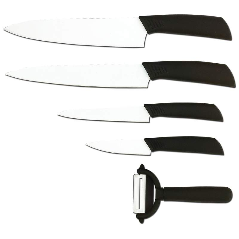 Slitzer 5pc Ceramic-Coated Cutlery Set